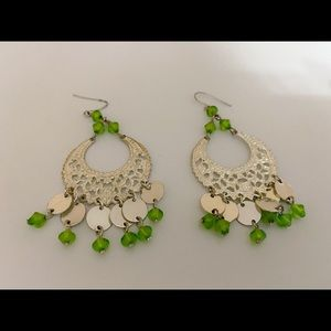 Luck of the Irish Gorgeous Green & Silver Earrings